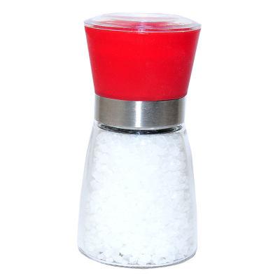 Tuz Karabiber Cam Değirmeni Kırmızı + Çankırı Granül Çakıl Doğal Kaya Tuzu 200 Gr