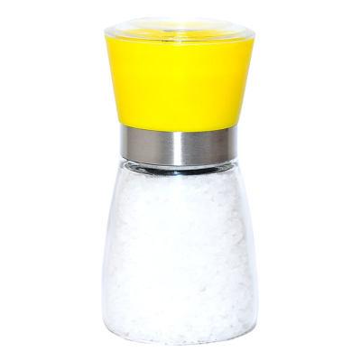 Tuz Karabiber Cam Değirmeni Sarı + Çankırı Granül Çakıl Doğal Kaya Tuzu 200 Gr
