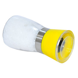 Tuz Karabiber Cam Değirmeni Sarı + Çankırı Granül Çakıl Doğal Kaya Tuzu 200 Gr - Thumbnail