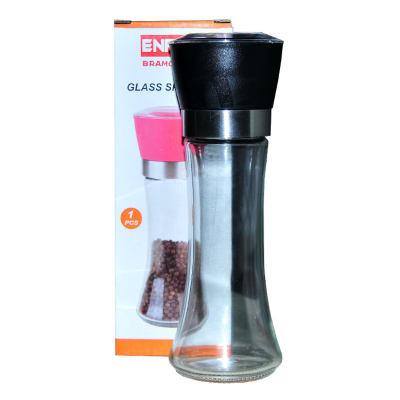 Tuz Karabiber Cam Değirmeni Uzun Siyah