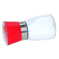 Çiftçiler - Tuz Karabiber Değirmeni Kırmızı + Çankırı Granül Çakıl Doğal Kaya Tuzu 200 Gr (1)