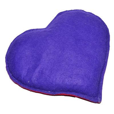Tuz Yastığı Kalp Desenli Mor - Kırmızı 2-3Kg