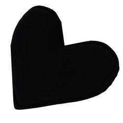 Tuz Yastığı Kalp Desenli Siyah 1-2 Kg - Thumbnail