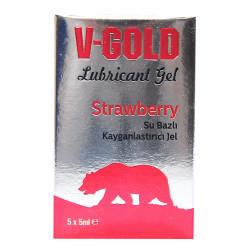 V-Gold - Kayganlaştırıcı Jel Strawberry 5 ML X 5Li Görseli