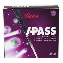 Balen - V-Pass Kara Mürverli Zerdeçallı Çinko ve C Vitaminli 1000 Mg X 30 Tablet Görseli
