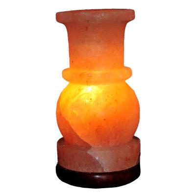 Vazo Şekilli Doğal Himalaya Kaya Tuzu Lambası Kablolu Ampullü Pembe 2-3 Kg