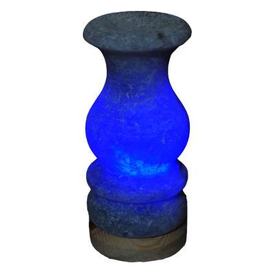 Vazo Şekilli Doğal Kaya Tuzu Lambası Çankırı Kablolu Ampullü Beyaz 1-2 Kg