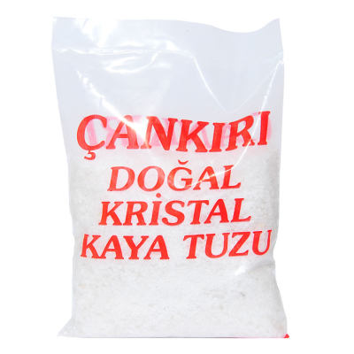 Yemeklik Granül Doğal Kristal Kaya Çakıl Tuz Çankırı 1000 Gr