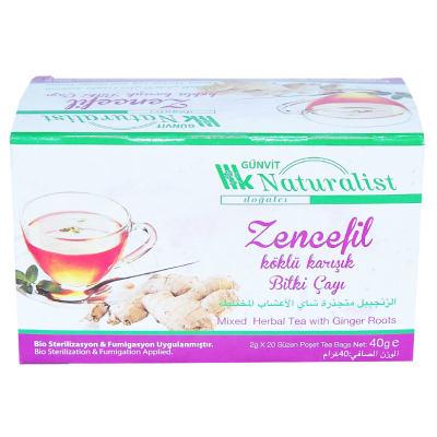 Zencefil Köklü Karışık Bitki Çayı 20 Süzen Pşt